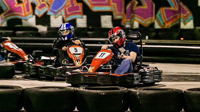Racing with the Premium Adult Kart